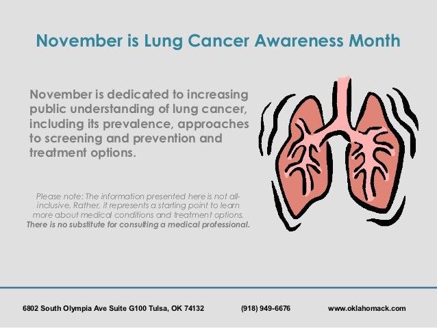 Oklahoma CyberKnife: Lung Cancer Awareness Slide 2