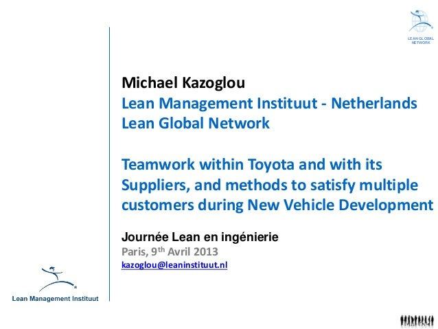 LEAN GLOBAL                                        NETWORKMichael KazoglouLean Management Instituut - NetherlandsLean Glob...