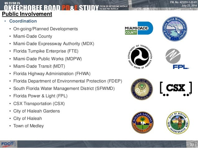 Okeechobee Road from Krome Avenue to NW 79 Avenue PD&E Study