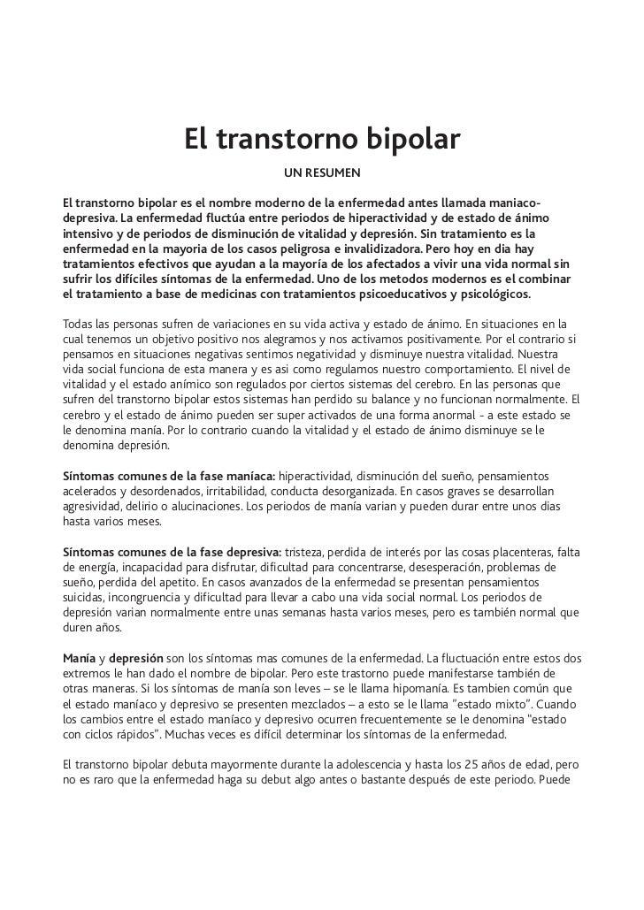 El transtorno bipolar                                           UN RESUMENEl transtorno bipolar es el nombre moderno de la...