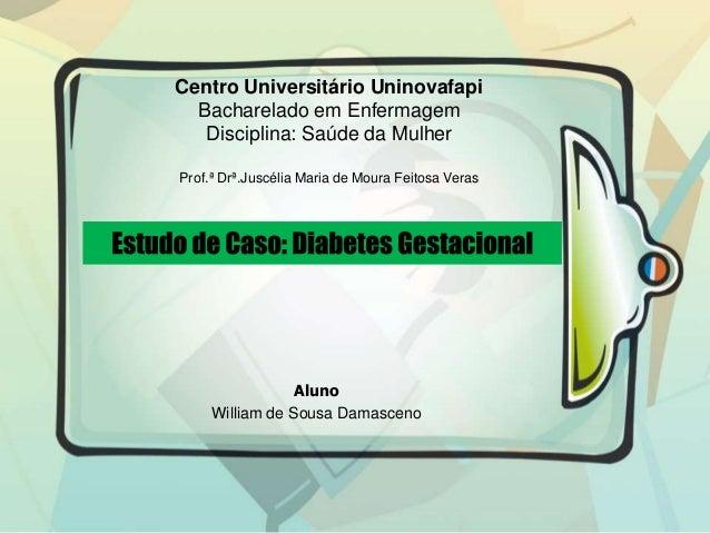 Aluno William de Sousa Damasceno Centro Universitário Uninovafapi Bacharelado em Enfermagem Disciplina: Saúde da Mulher Pr...