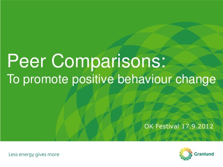 Peer Comparisons:To promote positive behaviour change                       OK Festival 17.9.2012