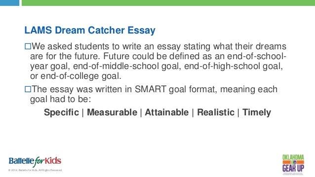 Essay on goals for high school