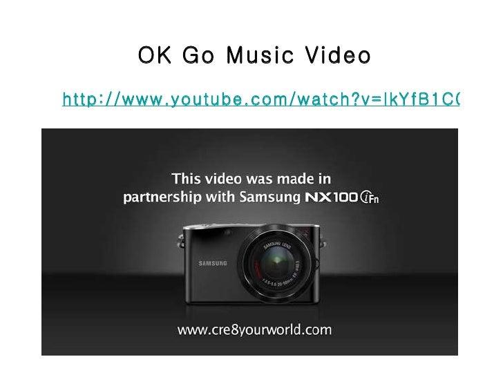 OK Go Music Video http://www.youtube.com/watch?v=IkYfB1C0Zgc