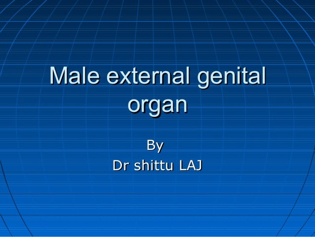 Male external genitalMale external genital organorgan ByBy Dr shittu LAJDr shittu LAJ