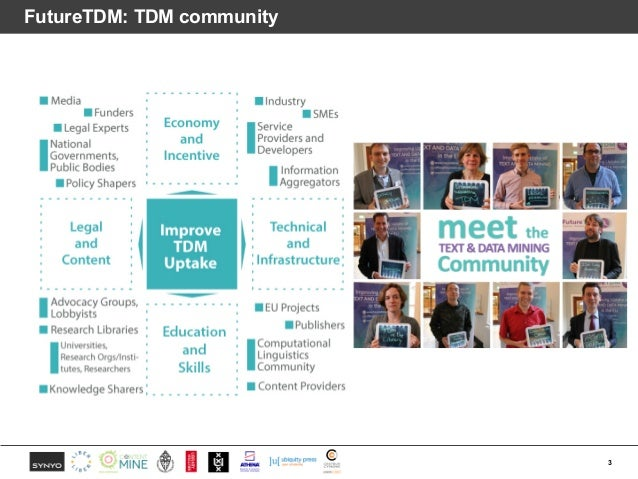 What have we learned from talking with the TDM community? Slide 3