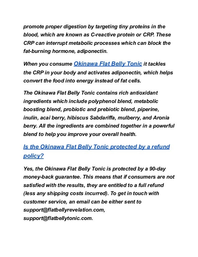 Okinawa tonic refund policy & identifying  scams Slide 3