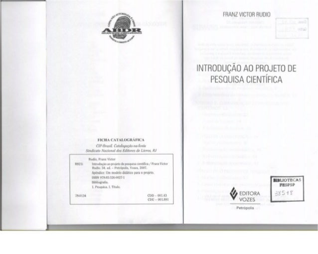 ncm CATALOGRÀFICA  CIP-Brasil Catalogaçda-ua-fartte Sindicato Nacianal das Edilorvs de Livros.  RJ  Rudio,  Franz Victor  ...
