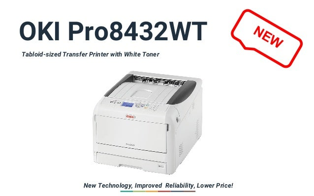 55d443be OKI Pro8432WT Tabloid-sized Transfer Printer with White Toner New  Technology, Improved Reliability, ...