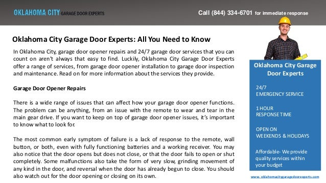 Oklahoma City Garage Door Experts All You Need To Know