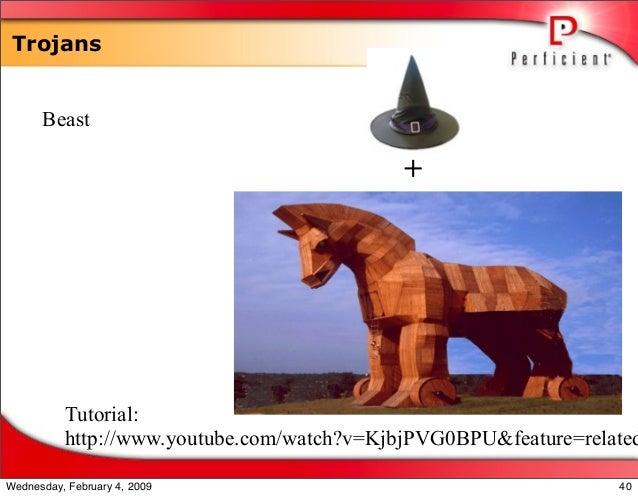 Trojans Beast + Tutorial: http://www.youtube.com/watch?v=KjbjPVG0BPU&feature=related 40Wednesday, February 4, 2009