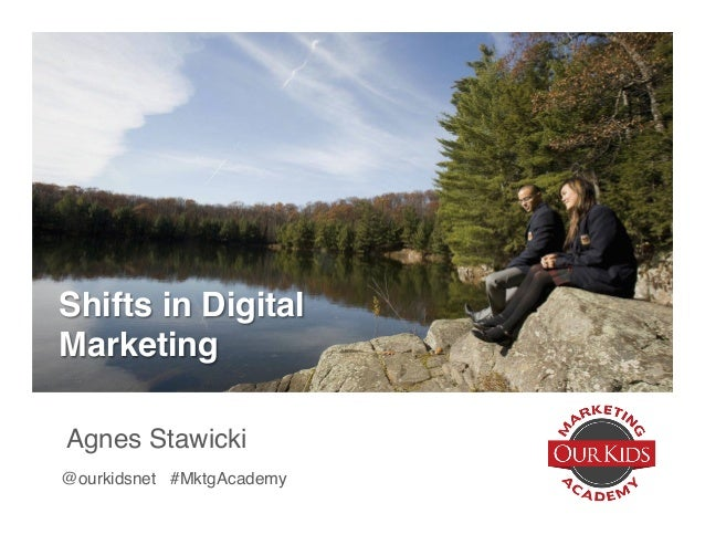 Shifts in Digital Marketing Agnes Stawicki @ourkidsnet #MktgAcademy