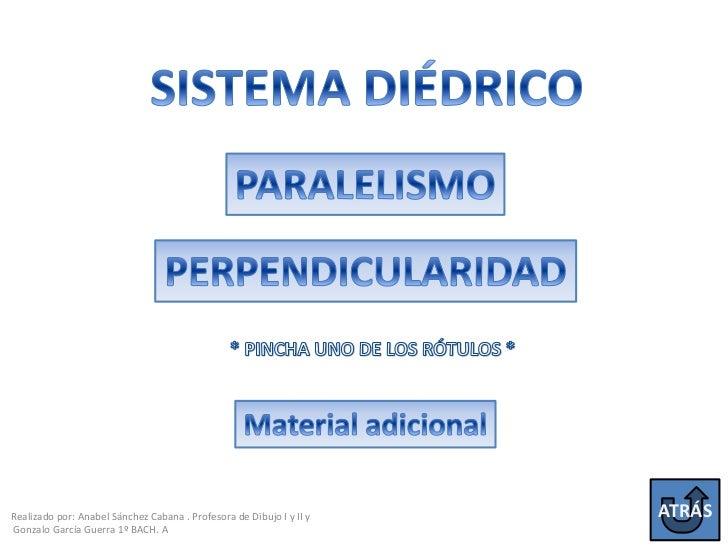 Realizado por: Anabel Sánchez Cabana . Profesora de Dibujo I y II y   ATRÁSGonzalo García Guerra 1º BACH. A