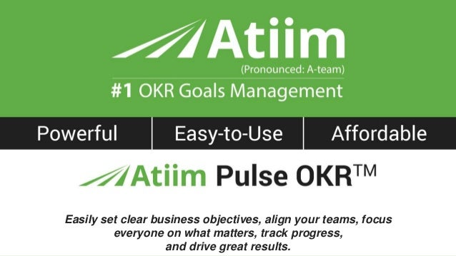 ™ Easily set clear business objectives, align your teams, focus everyone on what matters, track progress, and drive great ...