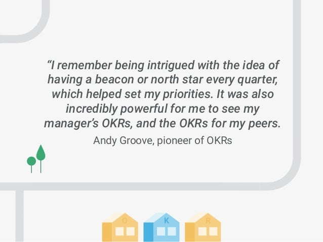 """RKO """"I remember being intrigued with the idea of having a beacon or north star every quarter, which helped set my prioriti..."""