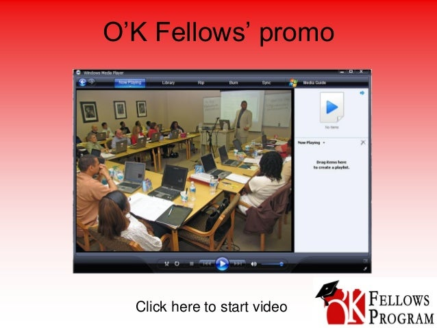 O'K Fellows' promo Click here to start video