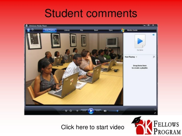 Student comments Click here to start video