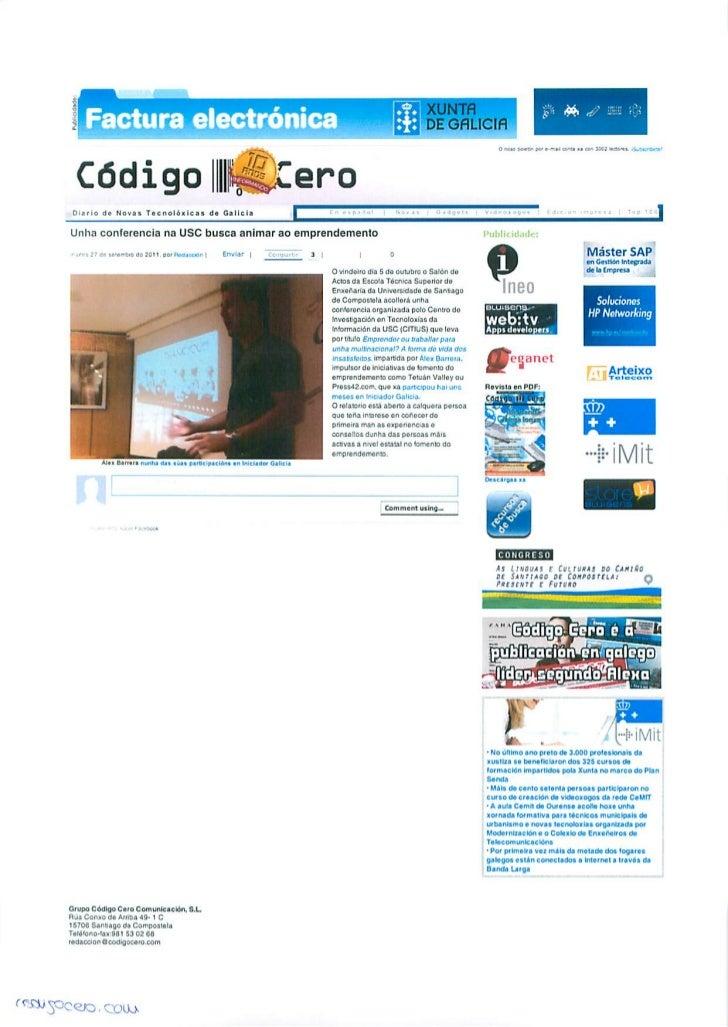 Okuri Ventures & Tetuan Valley - Menciones en medios Oct2011 - Parte A