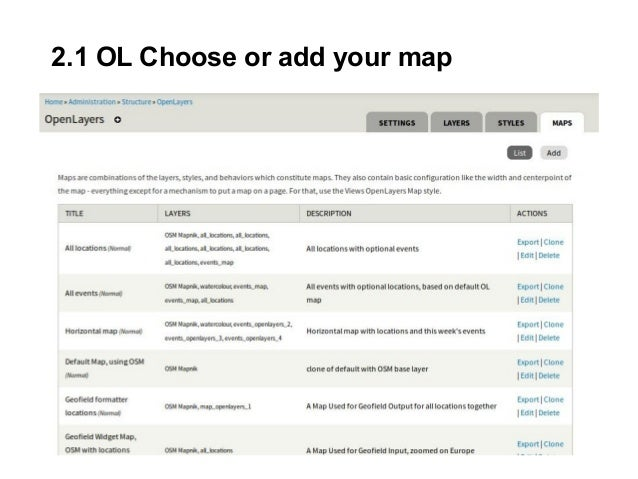 2.1 OL Choose or add your map