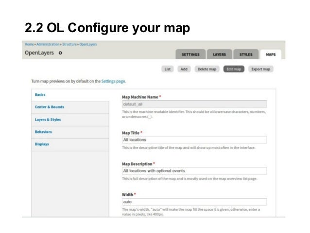 2.2 OL Configure your map