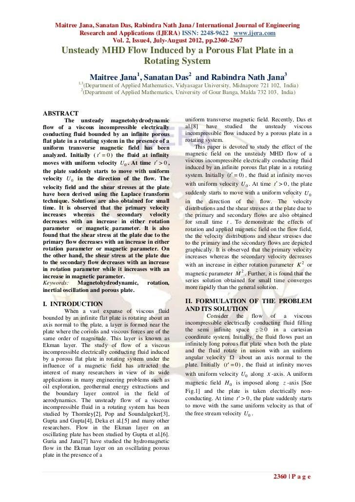 Maitree Jana, Sanatan Das, Rabindra Nath Jana / International Journal of Engineering             Research and Applications...