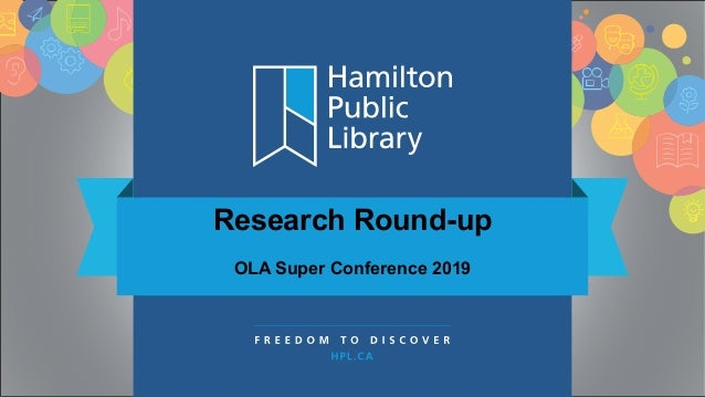 Research Round-up OLA Super Conference 2019
