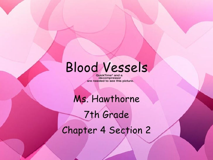 Blood Vessels Ms. Hawthorne 7th Grade Chapter 4 Section 2