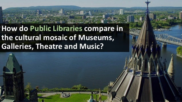 CULTURAL ACTIVITIES BY TYPE: PERCENTAGE OF CANADIANS ATTENDING Any Museum: 32% Public & Commercial Art Galleries: 33%