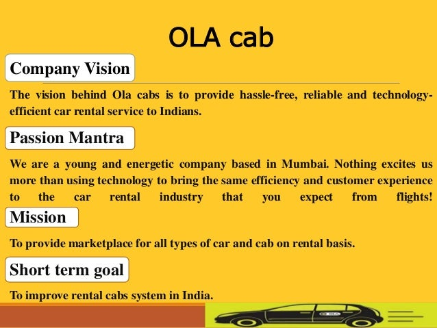 List Of Car Types >> Ola cab
