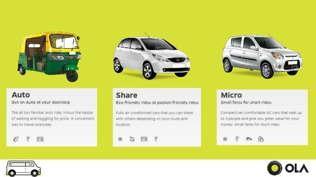Marketing Of Services By Ola