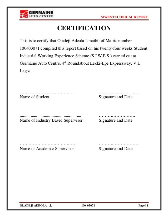 siwes report on electrical engineering pdf