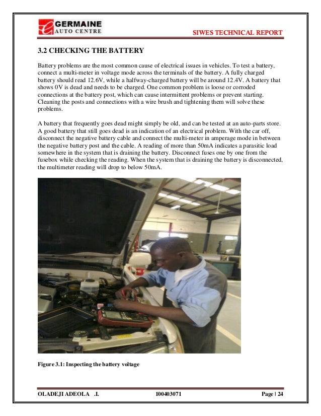 siwes report on automobile What is the aim of siwes(industrial training)answer: the students indusrial work experience scheme ( siwes ) exposes students of tertiary institution to industry based-skills necessary for a smooth transition from the classroom (theory) to the world of work (practicals).