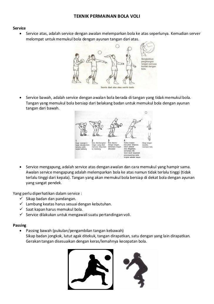 Olahraga Teknik Permainan Bola Voli