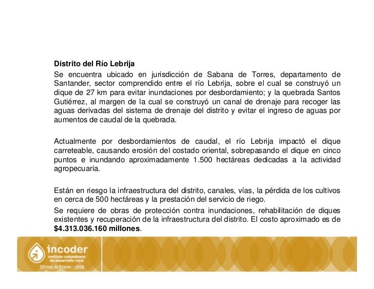 Informe especial ola invernal incoder for Oficina ola santander