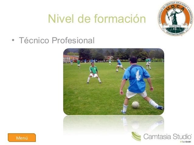 tecnico profesional en entrenamiento deportivo Slide 3