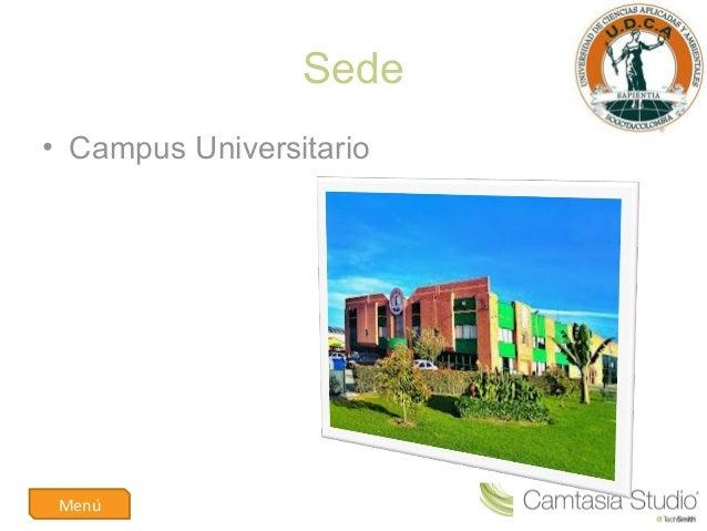 Sede• Campus UniversitarioMenú