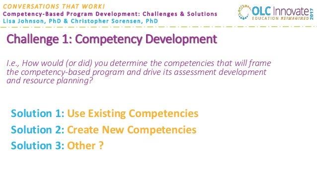 Competency-Based Program Development: Challenges & Solutions Slide 3