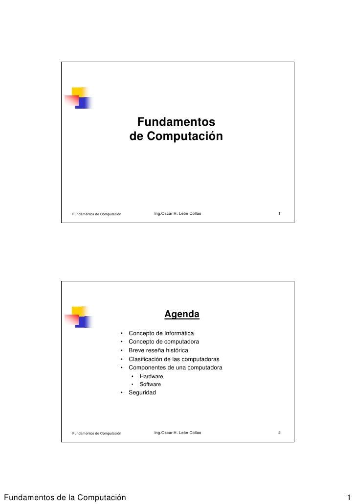 Fundamentos                                             de Computación                Fundamentos de Computación          ...