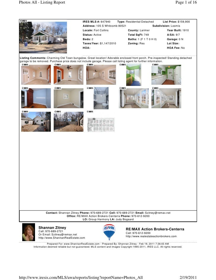Photos All - Listing Report                                                                                               ...