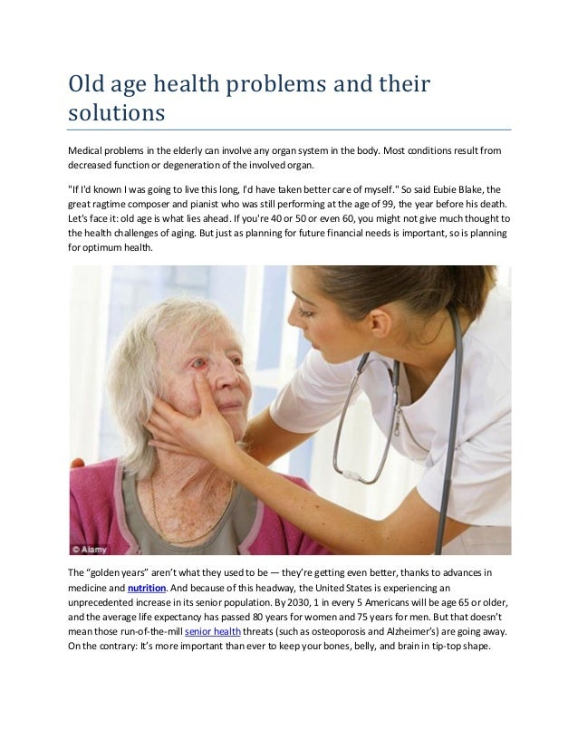 health issues in the elderly