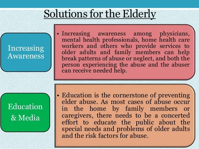 problems faced by old age