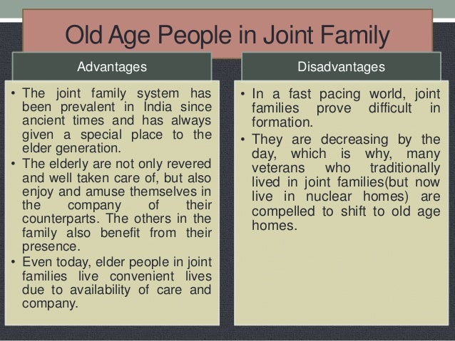 Essay on advantages and disadvantages of old age homes