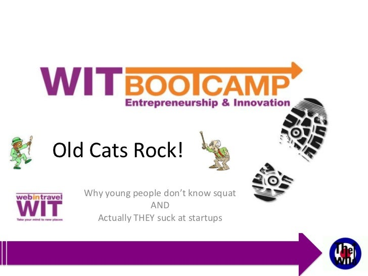 Old Cats Rock!   Why young people don't know squat                 AND     Actually THEY suck at startups