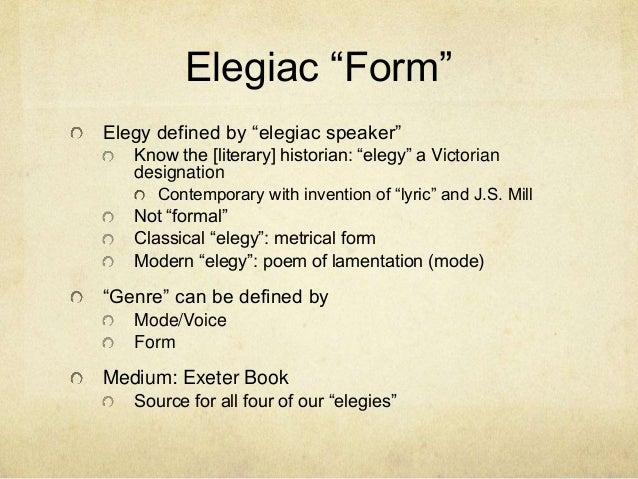 what makes the seafarer an elegy