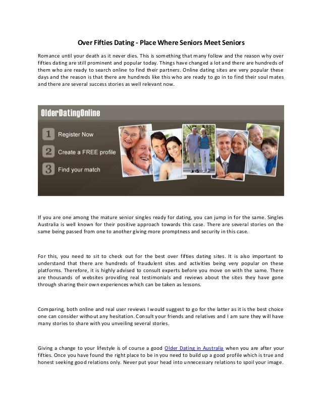 Free seniors dating sites australia