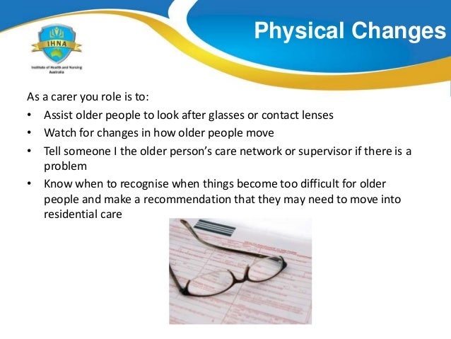 role changes in older adults