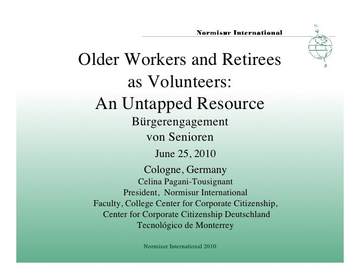 Older Workers and Retirees