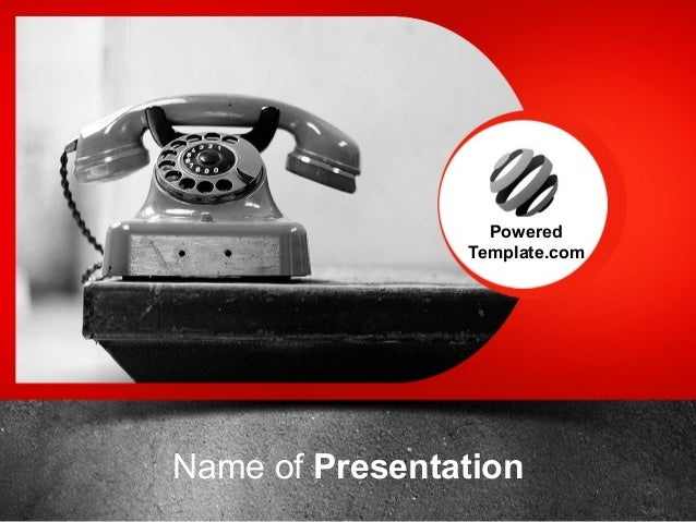 Old Fashioned Telephone Powerpoint Template By Poweredtemplate Com