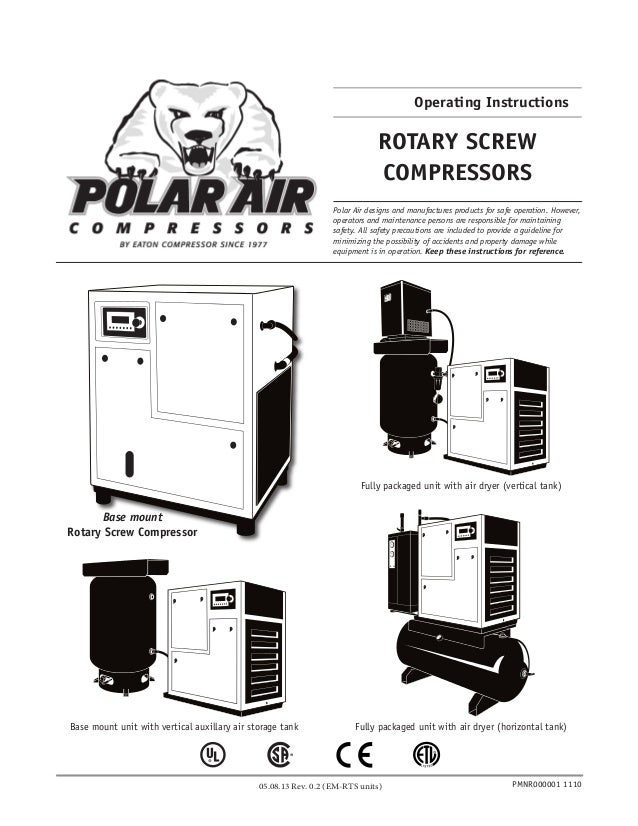 old generation rotary screw air compressor