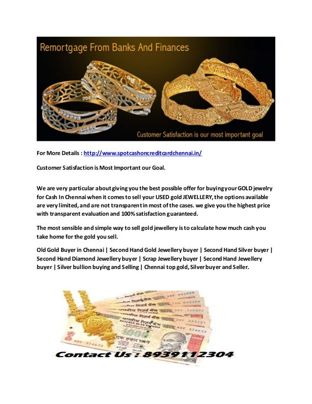 Second hand gold buyers in chennai